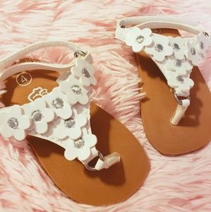 Teeny toes floral sandals